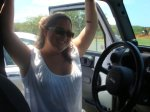 Rene in Jeep, Hawaii